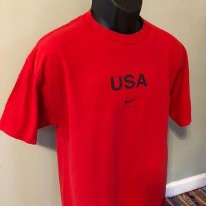 Nike Shirts - Nike Team USA Swoosh Logo Tee Shirt